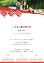 CPP Dumps - C Institute CPP Exam Questions - DumpsArchive