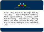 Rising Demand for Luxury and Comfort to Drive the Market for Driver Fatigue Monitoring Systems