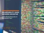 Vulnerability Gives Hackers Incentives – 9 Data Prevention & Mediation Tips