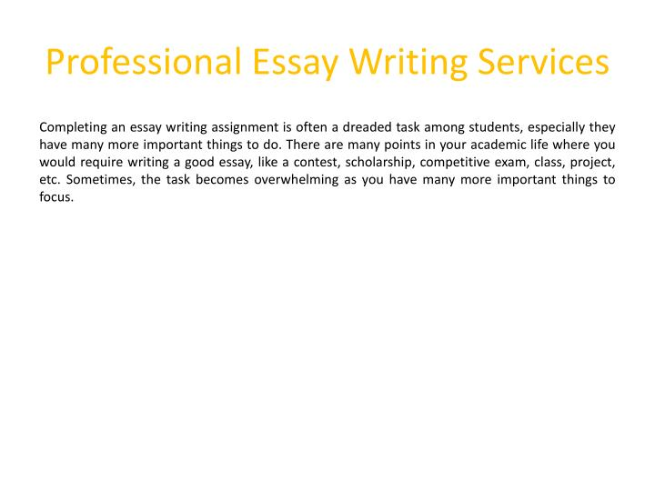 professional essay writing services n.