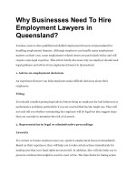 Why Businesses Need To Hire Employment Lawyers in Queensland?