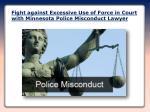 Minnesota Police Misconduct Lawyer