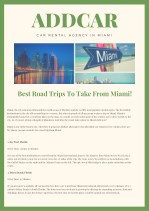 Best Road Trips To Take From Miami