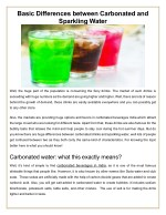 Differences between Carbonated and Sparkling Water-
