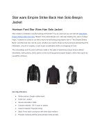 Star wars Empire Strike Back Han Solo Bespin Jacket