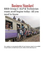 RRB Group C ALP & Technician exam 2018 begins today: All you need to know
