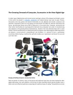 The Growing Demand of Computer, Accessories in the New Digital Age