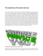 The Importance of Customer Services