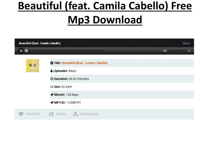 💄 Bazzi feat camila cabello song download | Beautiful (feat  Camila