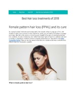 Female pattern hair loss (FPHL) and its cure