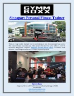 Singapore Personal Fitness Trainer