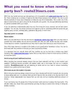 What you need to know when renting party bus?- route23tours.com