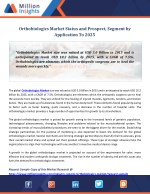 Orthobiologics Market Status and Prospect, Segment by Application To 2025