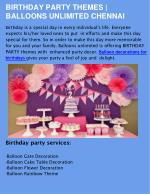 Birthday Party Organisers in Chennai & Helium Balloon Bouquets in Chennai