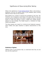 Significance of Glass during Wine Tasting