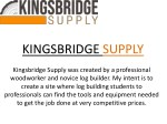 Online Buy Logging Tools and Equipment at kingsbridgesupply.com