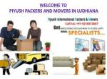 Packers Movers in Ludhiana