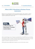 What is RPA? A Revolution in Business Process Automation