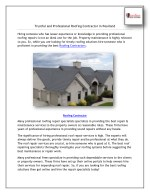 Trustful and Professional Roofing Contractor in Pearland