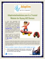 Adaptive Equipment For Disabilities