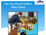 Tips You Should Follow After Flood