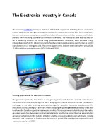 The Electronics Industry in Canada