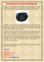Extra benefits that you can seek on latest HDMI cables online