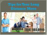 Tips for Your Long Distance Move