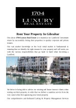 Rent Your Property In Gibraltar