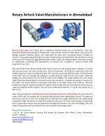 Rotary Airlock Valve Manufacturers in Ahmedabad