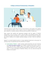 6 Ways to Boost Productivity in Hospitals