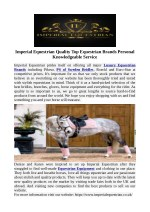 Imperial Equestrian Quality Top Equestrian Brands Personal Knowledgeable Service