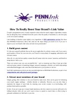 How To Really Boost Your Brand's Link Value