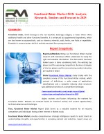 Functional Water Regional (US, Europe, China, Japan) and Global Market Research Report