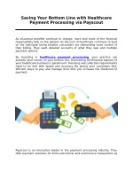 Saving Your Bottom Line with Healthcare Payment Processing via Payscout