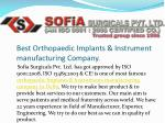 Best Orthopaedic Implants & Instrument Manufacturing Company in Delhi