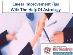 Career Improvement Tips With The Help Of Astrology