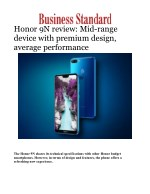 Honor 9N review: Mid-range device with premium design, average performance