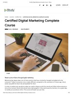 Certified Digital Marketing Complete Course - istudy
