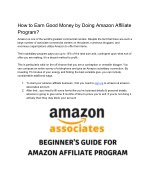 Beginners Guide for Amazon Affiliate Marketing