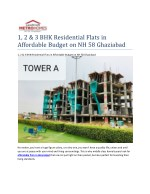 1, 2 & 3 BHK Residential Flats in Affordable Budget on NH 58 Ghaziabad