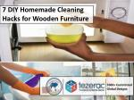 7 DIY Homemade Cleaning Hacks for Wooden Furniture