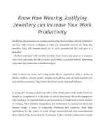 Know How Wearing Justifying Jewellery can Increase Your Work Productivity (1)
