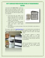 Buy candles from online Store at reasonable rates
