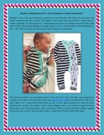 Baptism Clothing Stores Pay a Great Attention to Comfort and Quality!