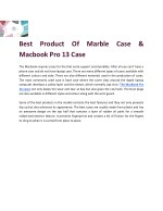 Best Product Of Marble Case & Macbook Pro 13 Case