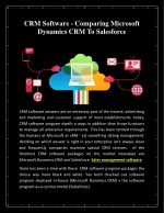 Crm software   comparing microsoft dynamics crm to salesforce
