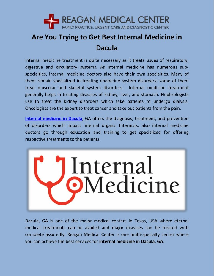 PPT - Best Services for Internal Medicine in Dacula PowerPoint
