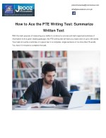 How to Ace the PTE Writing Test: Summarize Written Text