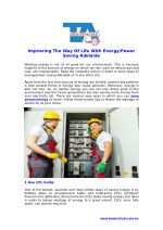 Enhancing The Way Of Living With Energy/Power Saving Adelaide